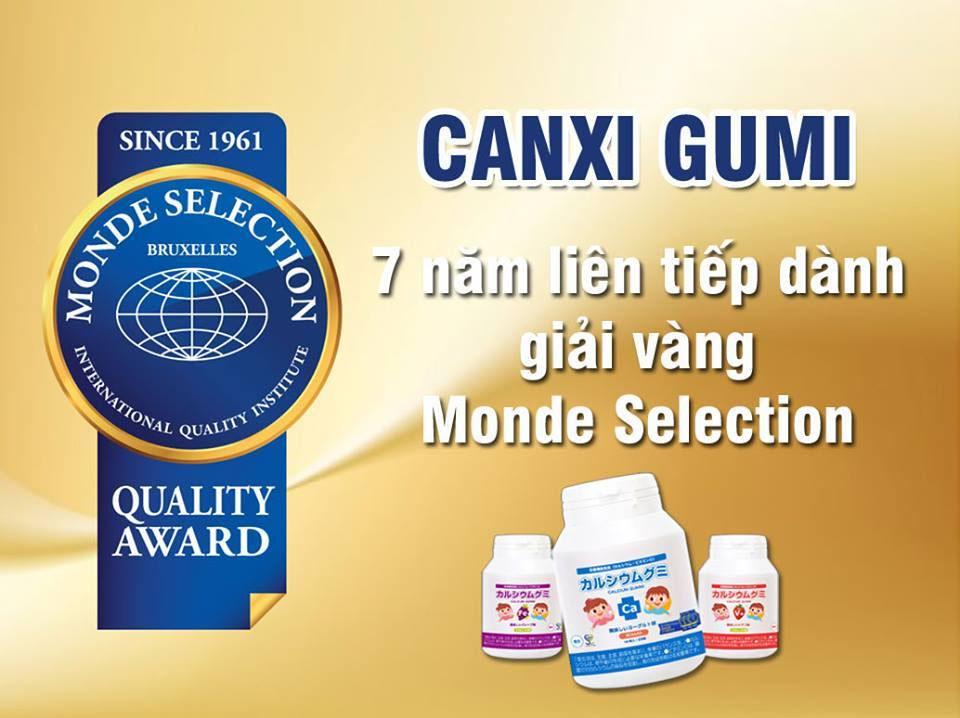 Sản phẩm đạt giải vàng cao nhất MONDE SELECTION 7năm liền về chất lượng