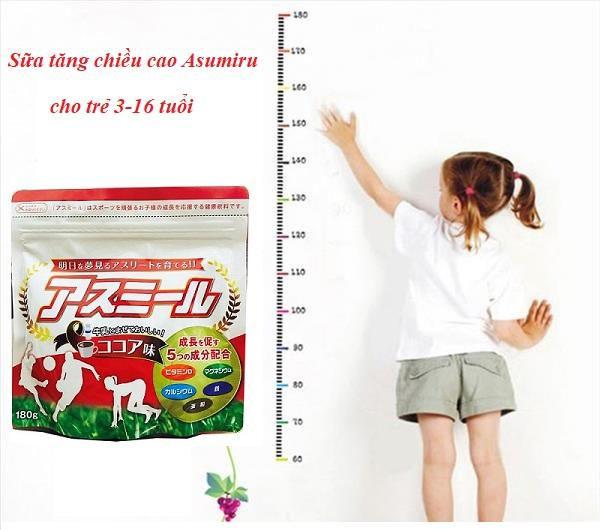 Sữa tăng trưởng chiều cao Asumiru thúc đẩy tăng trưởng chiều cao và tăng sức đề kháng cho bé.