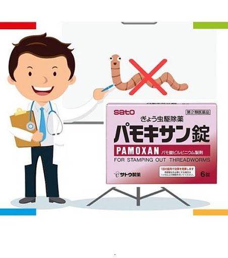 Thuốc tẩy giun Pamoxan Sato được điều chế liều lượng phù hợp chongười lớnvàtrẻ emtrên 5 tuổi.